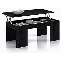 Habitdesign 001637MT - Mesa elevable , color negro malla, dimensiones 100 x 50 x 43 cm