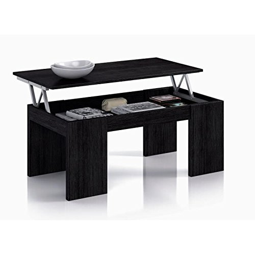 Habitdesign 001637MT - Mesa elevable , color negro malla, dimensiones 100 x 50 x 43 cm