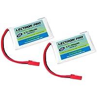 2-Pack of Lectron Pro 3.7 volt - 700mAh 30C Lipos for LaTrax Alias Quadcopter by Common Sense RC