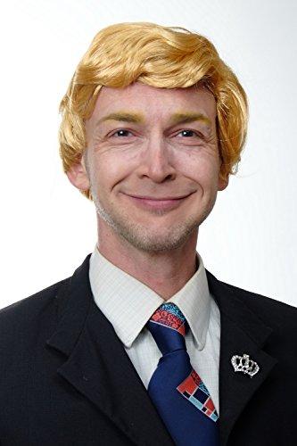 WIG ME UP - TL-001 Perücke Herren Scheitel Karneval US Präsident Reality Soap Darsteller Blond (Herren Frisuren Blond)