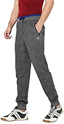 Van Heusen Mens Cotton Track Pants (8907670037614_50046_GREY_XL)