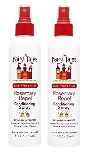 FAIRY TALES Rosemary Repel Lice Prevention Leave-In Conditioning Spray 8 oz, Pack of 2