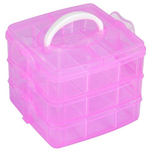 TRIXES - Schminkkoffer 3 Stöckig Handwerk Box Nail Art Make-Up Aufbewahrung Kiste (Utility-organizer-box)