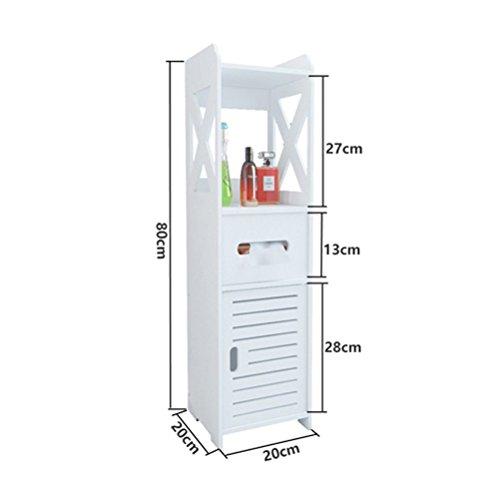 LUYIASI- Badezimmer-Regal Wc-seitliche Schränke Seitenschränke Wc-Wohnzimmer-Fußboden-Schließfächer Wasserdichte Toiletten-Speicher-Regale Shelf ( Farbe : A )