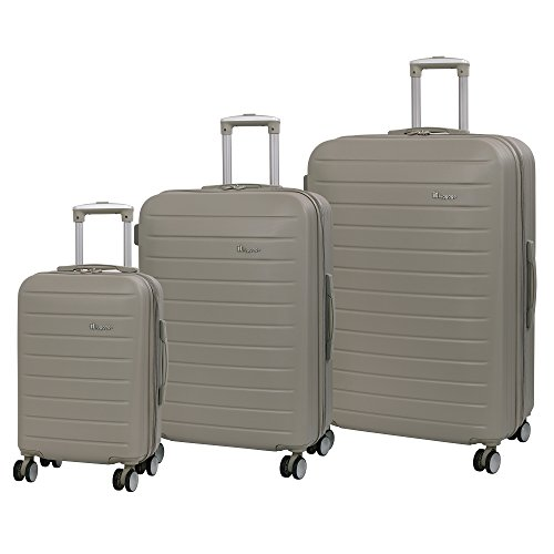 it luggage Set 3 Pezzi Legion 8 Ruote Grande Spinner Espandibile Valigia Valigia 80 cm, Cobblestone (Beige) - 16-2179-08GLO3N-S517