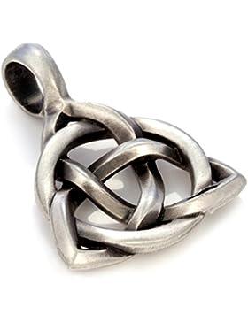 Bico Herren Triquetra Anhänger (E338) - dreifach gebunden - Satiniertes Silber