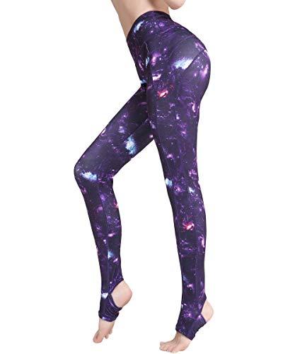 HAPYWER Sport Leggings Damen Yoga Trainings Gym Fitness Hose Blickdicht Sporthose Laufhose(Sternenhimmel,S) -