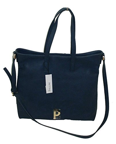 Pollini , Sac pour femme à porter à l'épaule bleu bleu grande