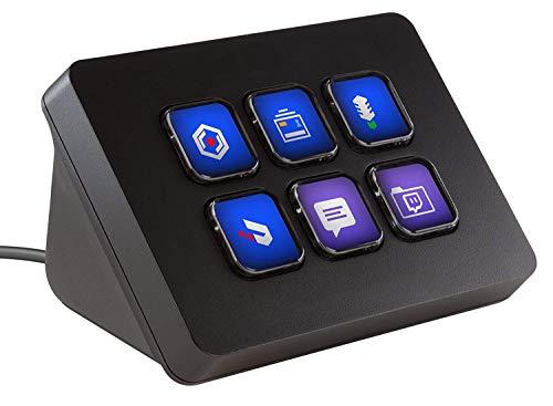 HWZDQLK Live Content Creation Controller mit 6 anpassbaren LCD-Tasten for Windows 10 und MacOS 10.11 oder höher -