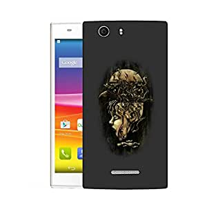Snoogg Bird From Brain Designer Protective Back Case Cover For MICROMAX NITRO 2