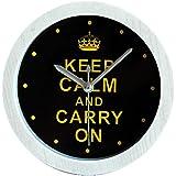 GAOHL Cartel mesa reloj madera reloj alarma despertador , black
