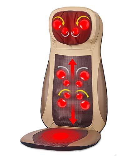 KOSHSH Shiatsu Back/Nacken Massager, smart One-Touch verstellbar mit Heizung Ganzkörper-Vibration-Massage für den Heimgebrauch,beige