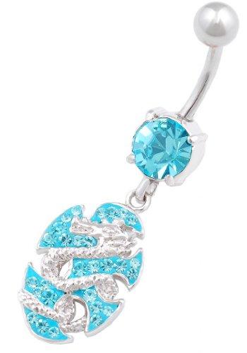 rcing stecker Chirurgenstahl mit Swarovski Kristalle Dragon anhänger JAAR ()
