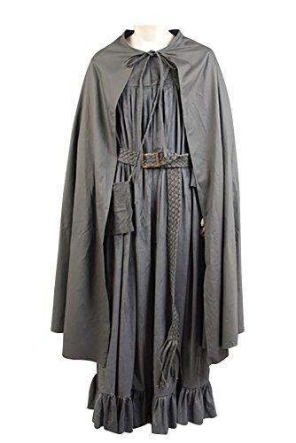 RedJade Frodo Baggins Herr der Ringe Umhang Outfit Cosplay Kostüm Grau Herren (Frodo Umhang Kostüm)