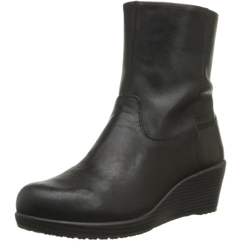 Crocs A-Leigh Leather Bootie W, Bottes - Femme - B00B4EV5R8 - Bottes a38756