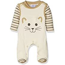 Twins Baby Unisex Two-Piece Clothing Set with Romper Suit and Longsleeve Shirt