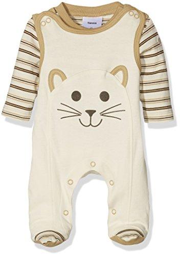 """Twins Unisex Baby Strampler \""""Katze\"""" mit Langarmshirt, Mehrfarbig (White Smoke 120704), 50"""