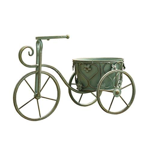 WYDM Racks de Flores Hierro Metal Bicicleta Pastoral Escritorio Estante de la Flor para Macetas de Plantas Titular Retro Estantes Soporte Rack Jardín Estante de Almacenamiento Jardín 45x27 cm