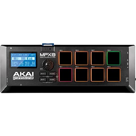 AKAI Professional MPX8 Portable Sample Pad Controller with 8 Performance-Ready Pads and On-Board SD Card