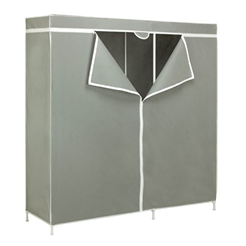 honey-can-do-wrd-03746-frame-wardrobe-closet-with-60-inch-hanging-space-steel-silver-60-x-1775-x-633