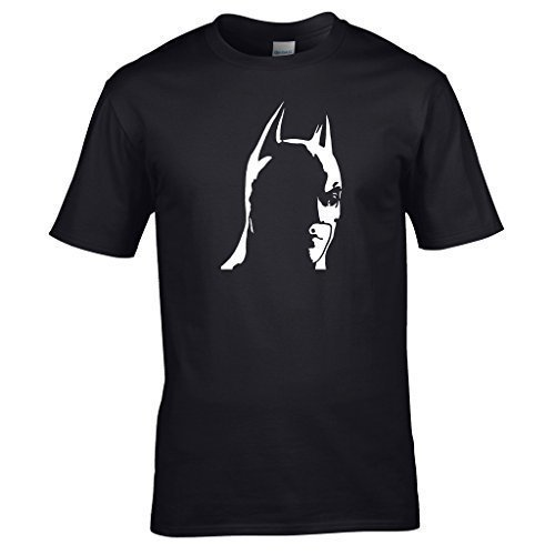 Naughtees kleidung - Batman T-shirt A einfach but markante design of dunkel ritter Schwarz