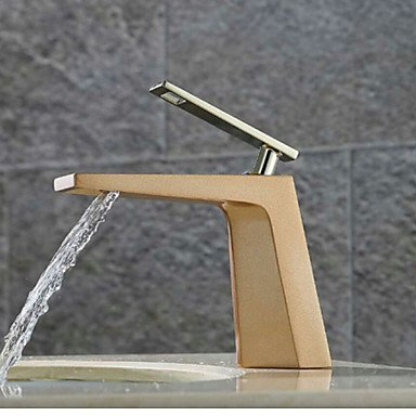 HONGLONG Deck Mounted Single Handle One Hole in Painting Bathroom Sink Faucet,Forest Green