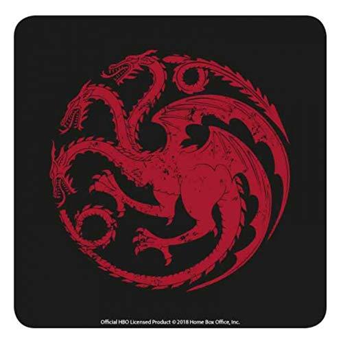 Juego de tronos genuino de HBO Targaryen House Sigil, posavasos, una estera para bebidas