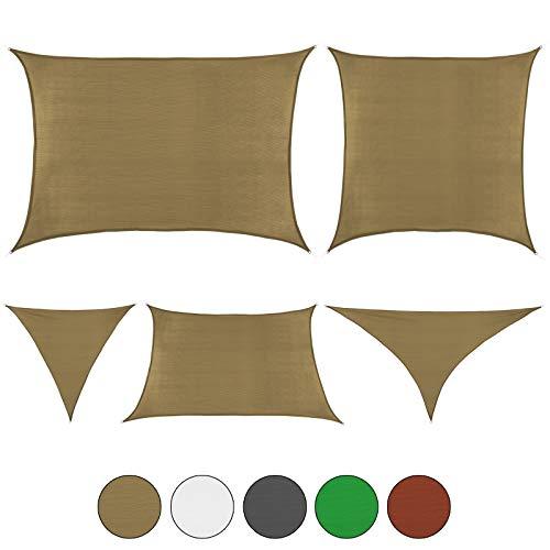 BB Sport Toldo Vela en Tallas y Colores Diferentes, Tamaño:4m x 7m, Color:Capuchino
