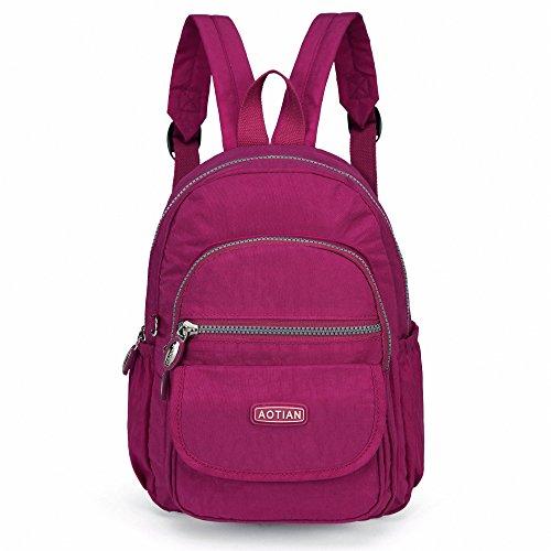 AOTIAN Mini Rucksack Für Mädchen Und Damen Leichtgewicht Kleine Lässiger Daypacks Tasche 7 Liter Rosa (Rosa Rucksack Für Mädchen)
