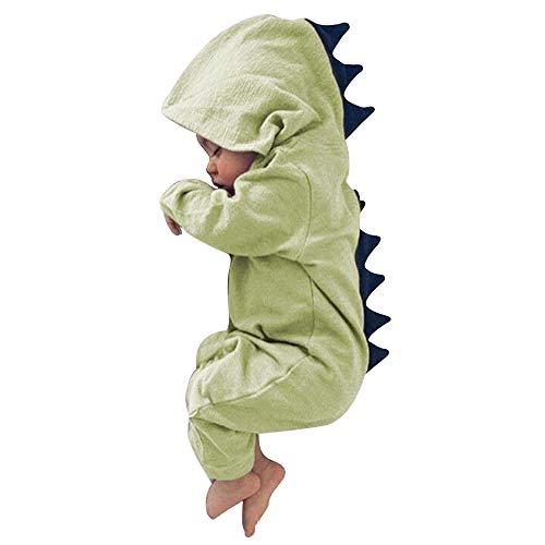 Dehots Baby Kleidung Jungen Mädchen Strampler Overall Jumpsuit Kleinkind Bodysuits Outfits Einteiler Jacke 0-18 Monate Neugeborenen Schlafstrampler Säugling - Säuglings-kleidung Grün