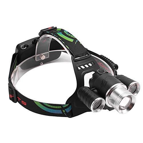 LED-Scheinwerfer-Arbeits-Hauptscheinwerfer-wasserdichte Hauptfackel-wieder aufladbare Haupttaschenlampe, 4 helle Modus-Scheinwerfer für das Laufen/Gehen/Radfahren/Fischen/Kampieren-IPX5 - Aufladbare Wieder Motorrad