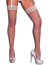 b59860af90e Gabriella Ladies Stockings Calze LUX 15 Denier Delicate Transparent with  9-cm Wide Lace BNIB