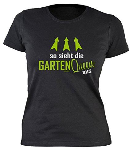 Gärtner Sprüche Damen T-Shirt - Damenshirt Gärtnerin : So sieht die Garten Queen aus -- lustige Sprüche Hobbygärtner Gr: M