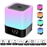 Night Light Bluetooth Speaker, Touch Sensor Bedside Light Dimmable Warm Light, Color Bedside Lamp, MP3 Music Player, Wireless Speaker Light (Letzte Version)