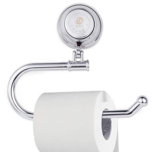 WC Papier Halter, modernes Vakuum Saugnapf Halterung abnehmbarer Halterung für Bad WC Küche, Chrom -