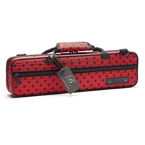 """Beaumont """"Ladybird"""" Querflötenkoffer - C-Fuß - Querflötentasche handgemacht als Querflöten Koffer Rucksack Etui Hülle Instrumententasche mit Schulterriemen Lightcase als Accessoire für Querflöte"""