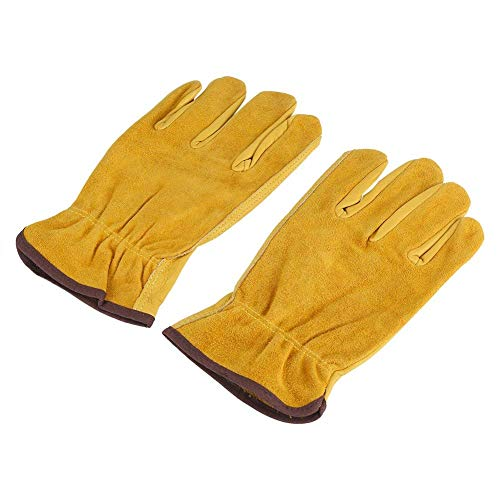 1 par guantes cuero 2 capas Guantes trabajo Guantes
