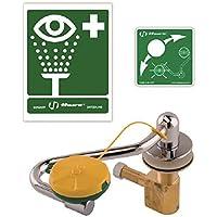 Haws–10004528limpiador de ojos/de cara pivotante de acción única con cabeza de ducha ojos/Visage Axion, MSR, diseñada para ser montado en bastidor el (izquierda o derecha) del estanque