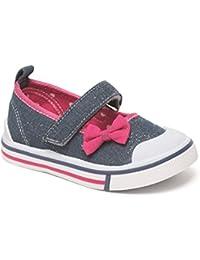 Kids Girls Sparkle Cherry Chatterbox Infant Flower Canvas Pumps Princess Trainers Shoe