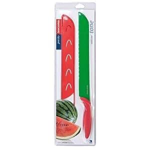 Tescoma Coltello con coprilama taglia anguria cocomero melone in acciaio inox ottima qualità