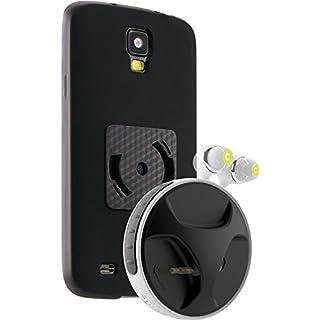athos-c SmartWind-Bumper Duo für Samsung Galaxy S4 Active - Hochwertiger, abnehmbarer Kabelaufroller für Kopfhörer mit separater Schutzhülle