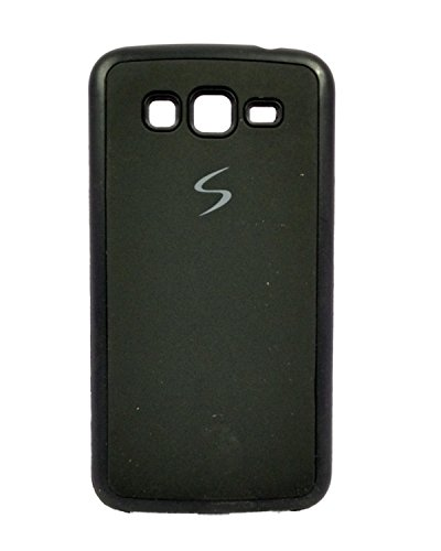 iCandy™ Premium Quality Black Boarder Leather Finish Soft Back Cover For Samsung Galaxy Grand 2 G7102 - Black  available at amazon for Rs.119