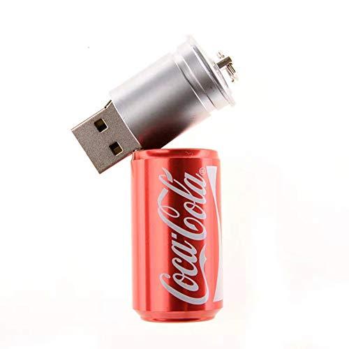 USB-Stick Flash Speicherstick Laufwerk Pen Drive 87/5000 USB2.0 Kreativ Karikatur Büchsen 4/8/16/32/64 / 128GB Geschenk Sicherheit Tragbar Mini PC Fernseher Auto MP3 (16GB,rot)