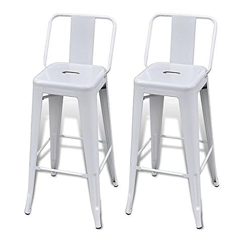 Bar Chair High Chairs Bar Stools Square 2 pcs Back