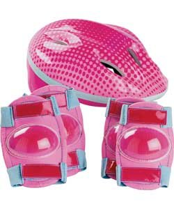 Bike Helmet And Pad Set - Girls'. from Bike