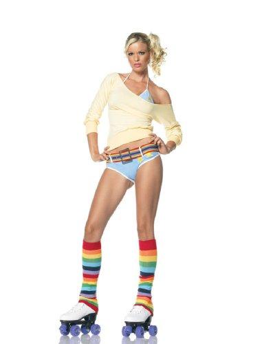 Leg Avenue - 4-teilig - Roller Girl Kostüm - XS - Gelb/Blassblau - (Rollschuh Kostüm)