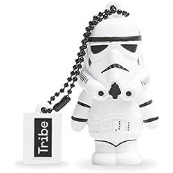 Tribe Disney Star Wars Stormtrooper - Memoria USB 2.0 de 8 GB Pendrive Flash Drive de Goma con Llavero, Color Blanco