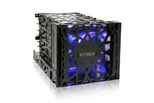ICY DOCK mb074sp-1b 2,5/8,9cm HDD/SSD Gehäuse Schwarz Aufbewahrungsboxen in Aufbewahrungsbox (2,5/3,5SATA Serial ATA II, Serial ATA III, Festplatte Caddy HDD/SSD, Schwarz, SSD, Metall, Kunststoff)