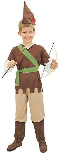 Jungen 5 Stück Robin Hood Welttag des Buches Woche Karneval Halloween Kostüm Kleid Outfit 4-12yrs Jahre - 10-12 years