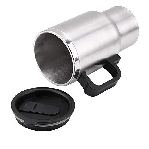 450ml 12V Acero inoxidable Coche eléctrico Taza de viaje Taza de calefacción Termo eléctrico Enchufe Hervidor de agua Cocina Coche Taza de café Calentador con adaptador